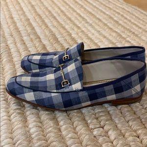 Sam Edelman canvas gingham loafers 39